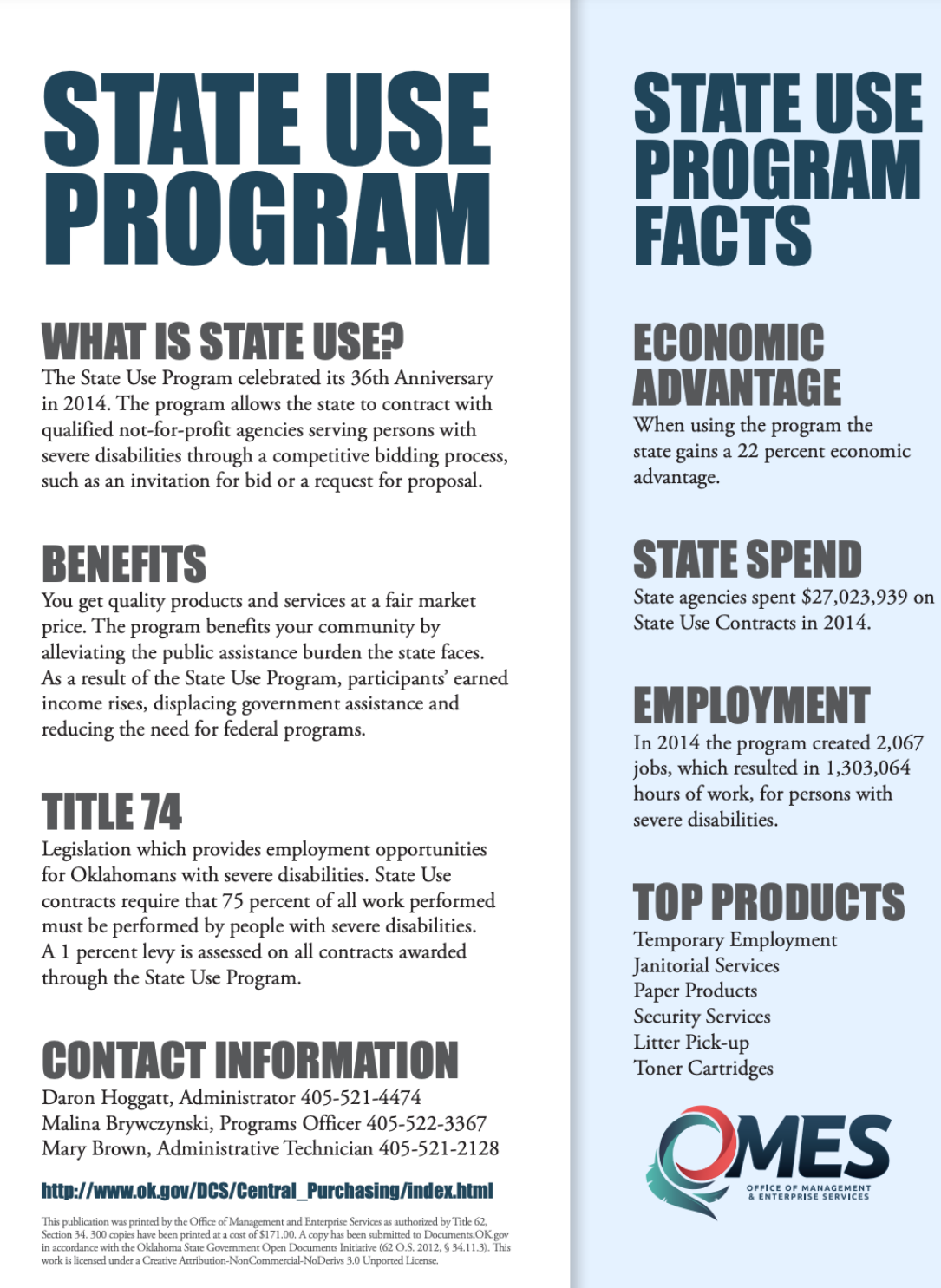 State Use Program Facts